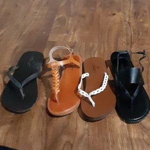 LOT of size 8 American eagle sandals